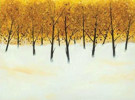 Roy Stuart - Yellow Trees on White