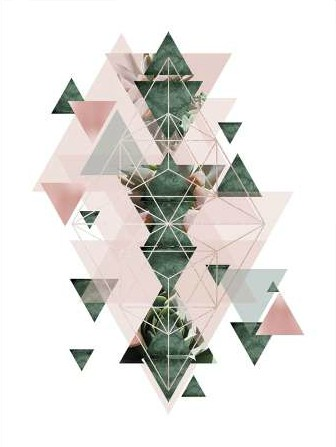 Urban Epiphany – Pink Green Geometric 2