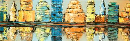 Atelier B Art Studio - Reflections of a colorful and abstract city