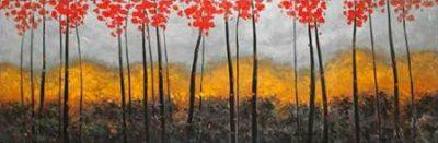 Atelier B Art Studio – Abstract Autumn Trees