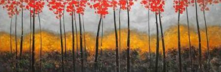 Atelier B Art Studio - Abstract Autumn Trees