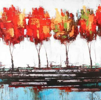 Atelier B Art Studio – Abstract industrial style trees