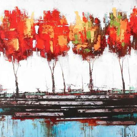Atelier B Art Studio - Abstract industrial style trees