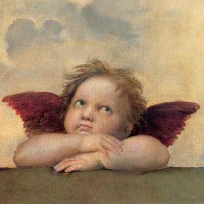 Raffaello – Angelo II Madonna Sistina