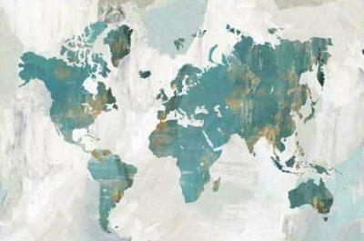 Collabera Pamela - Teal World Map