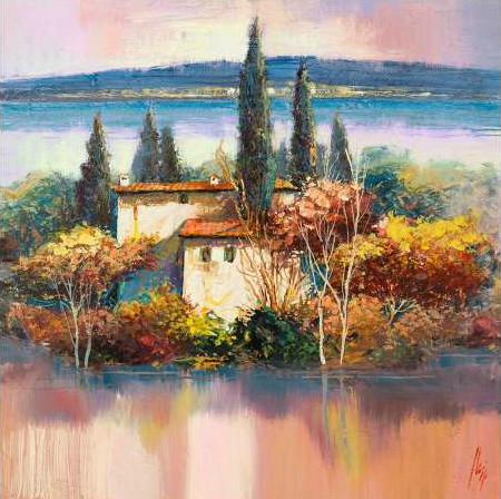 Florio Luigi - Case sul lago