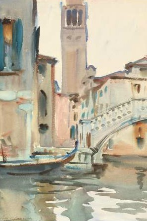 Sargent John Singer - A Bridge and Campanile Venice