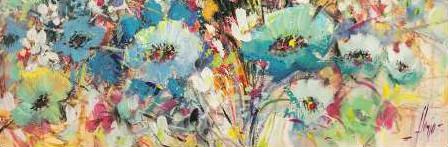 Florio Luigi - Campo di fiori in Primavera II detail