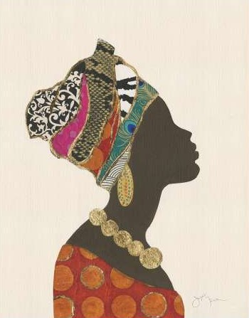 Tava Studios - African Silhouette Woman I