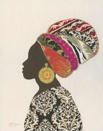 Tava Studios – African Silhouette Woman II